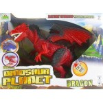 "Динозавр ходячий ""Красный Дракон"" на батарейках Dinosaur Planet"