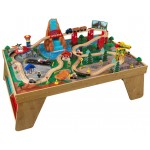 KidKraft Игровой набор ЖД станция Waterfall Station Train Set & Table In Natural