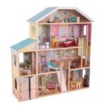Большой кукольный дом для Барби KidKraft «Великолепный (Королевский) Особняк» (Majestic Mansion) с мебелью