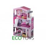 Деревянный домик для кукол с лифтом Майами Ecotoys