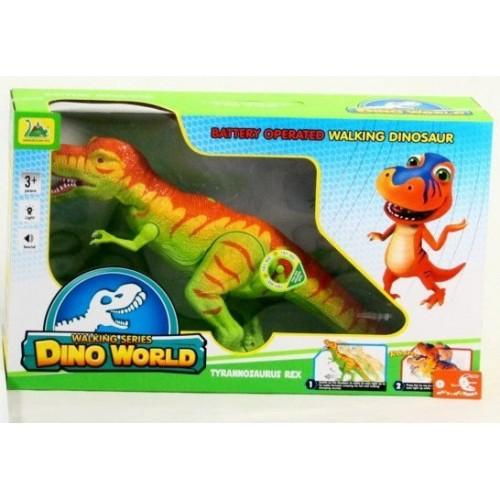 Интерактивная игрушка динозавр на батарейках со световыми и музыкальными эффектами