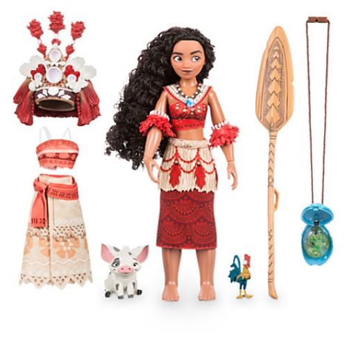 Disney набор кукла Vaiana/Moana поет + амулет светится