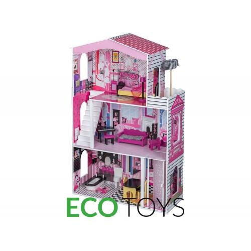 Кукольный домик для Барби с лифтом Майами Ecotoys